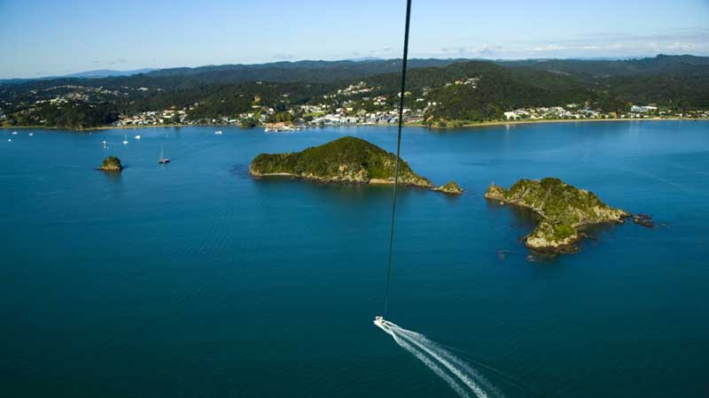 Embark on a sensational parasailing flight experiencing a tremendous height of 1,300ft over what has to be the best parasailing location in New Zealand - The paradise that is the Bay of Islands.