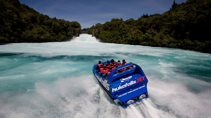 Experience the sheer power of the incredible Hukafalls, New Zealand's most visited natural attraction.