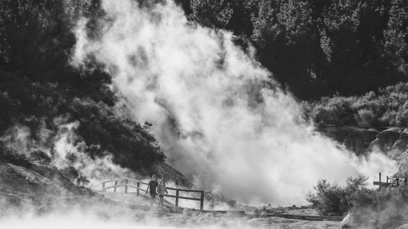 Combine a relaxing natural Sulphur Spa with an exploration of Rotorua's most active thermal park - Hell's Gate!