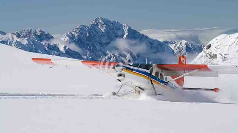 Take to the skies in a ski plane and discover spectacular glacial wonders with Mt. Cook Ski Planes & Helicopters!