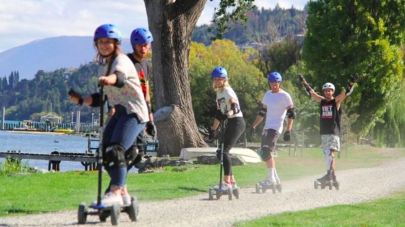 Electric Scooter or Skateboard Self Guided Tour  Queenstown  3 Hrs  Epic deals and last