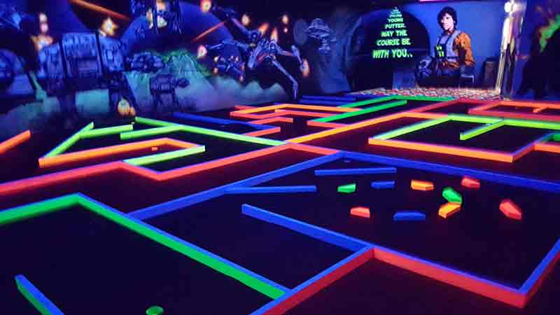 Glow In The Dark Mini Golf - 18 Holes - Epic deals and last minute discounts