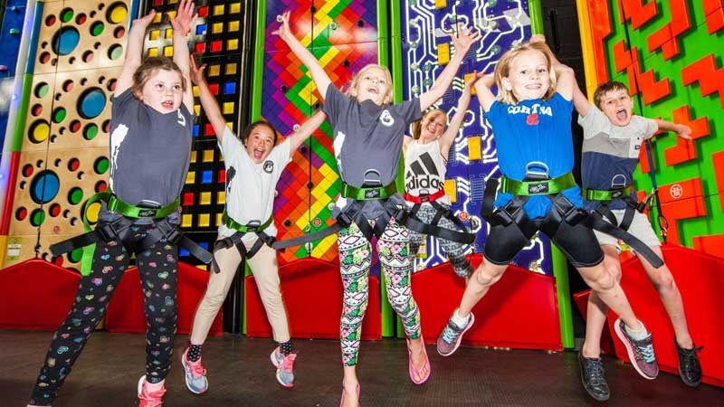Rock on down to Rocktopia and challenge yourself to some vertical fun on a range of exciting climbing walls!