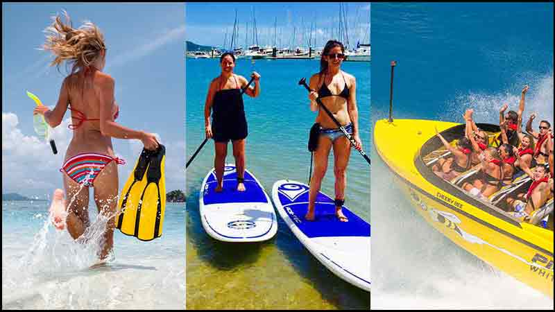 Get the best of the Whitsundays with an two day activity combo package including Jetboating, a Whitehaven Beach Day Tour and Airlie Beach Stand Up Paddleboarding