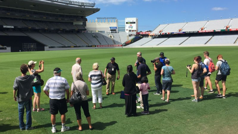 Walk in the footsteps of sporting legends and explore New Zealand's famous Eden Park Stadium.