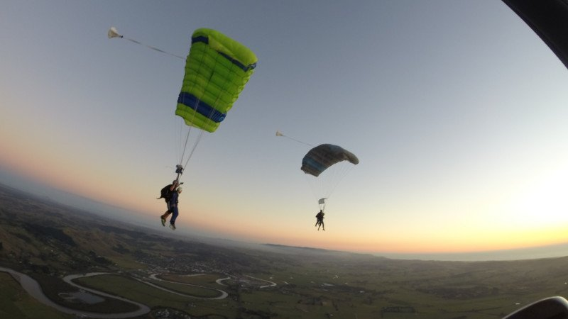 Experience a jaw dropping 16,000ft tandem skydive with views of both the east and west coasts of New Zealand!