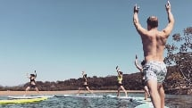SUP Group Yoga Class - Pure Aloha SUP Yoga