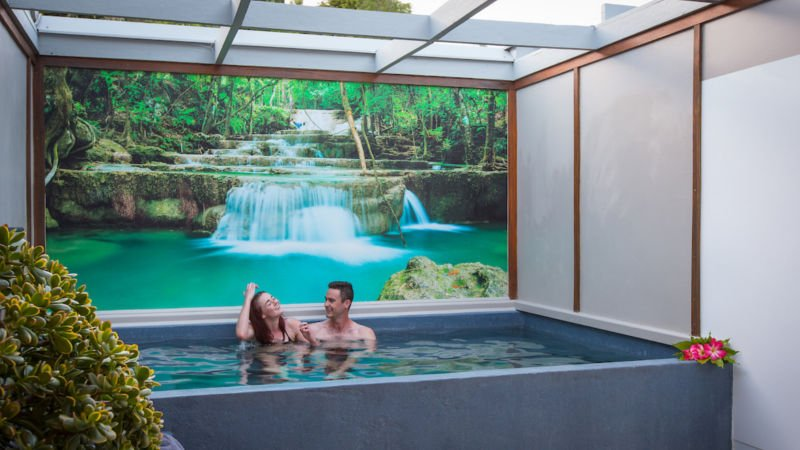 The Private Thermal Hot Pool pass is the perfect way to unwind, soothe aching muscles, and relax in your own world.