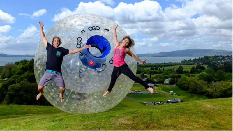 Get more bang for your buck with this action packed combo where you can enjoy rolling down a hill inside New Zealand's iconic giant inflatable ball ride at ZORB -  try both the Straight Track and the super twisty Sidewinder Track!