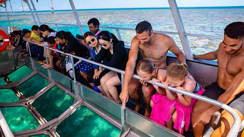 The ultimate Great Barrier Reef day tour! Relax – Play – Explore! Join us as we dock next to our pontoon at the Reef location.