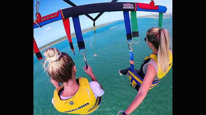 Feel the adrenaline with The Gold Coasts HIGHEST parasail, 400ft above the broad water with views over Surfers Paradise and the Gold Coast hinterland.